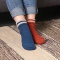 1 Пара дамы зимой кашемир шерсть милые женщины Хлопчатобумажные носки для женщин высокого качества сгустите теплый полосатый дизайн носок