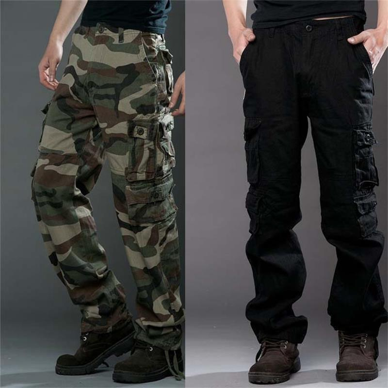 2018 Brand Mens fashion Military Cargo Pants Multi-pockets Baggy Men Pants Casual Trousers Overalls Army Pants Joggers