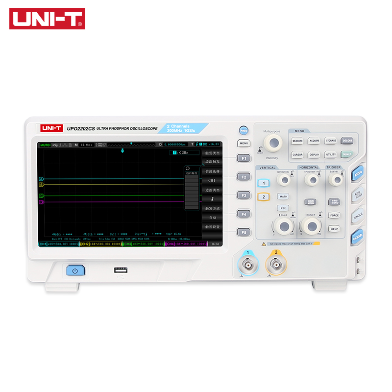 UNI-T UTD2102CL Portátil Digital Oscilloscope 100MHz Canais 500 Ms/S Osciloscópios USB Ociloscopio 2 Automotivo Portatil