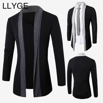 Men's Long Sleeve Knitted Cardigan Sweater