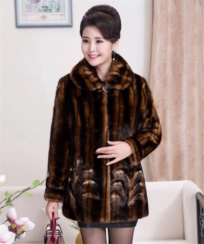 HTB1U1w3c6fguuRjy1zeq6z0KFXa7 2020 Winter Women's Fur Coat Faux Mink Fur Jackets Plus size 5XL Middle aged Female Diamonds Thicken Noble Fur Coats OKXGNZ 2138