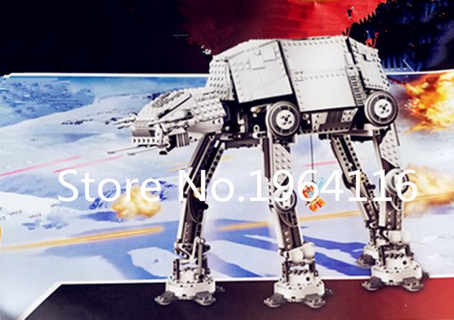 New 05050 Star series The Motorized Walking AT-AT Model Building Blocks set Compatible 10178 classic Toys for children