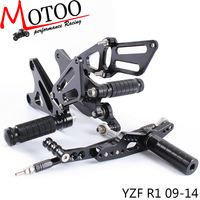Full CNC aluminum Motorcycle footrest footpeg foot peg pedal Rearset Rear Set For YAMAHA YZF R1 2009 2014