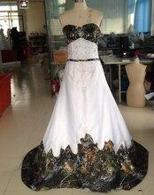 Bealegantom 2019 New Sexy Sweetheart White and Camouflage Wedding Dresses Lace Up Camo Bridal Gowns Vestido De Novia QA1428