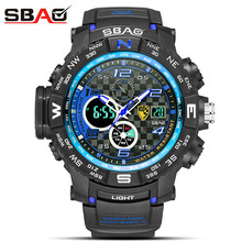 2019 Fashion Men Sports Watches Quartz Analog LED Digital Clock Japan movement Military Waterproof Watch Man Relogio Masculino цена 2017