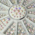 3 sizes White Multicolor Acrylic Glitter Rivets Nail Art  Rhinestone Decoration 041Q