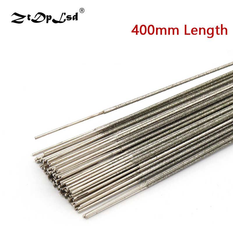 ZtDpLsd 1 ชิ้น 400 มิลลิเมตรโลหะลวด Saw ใบมีดตัดใบมีด 1.0 มิลลิเมตร 1.2 มิลลิเมตร 1.5 มิลลิเมตรสำหรับ Jade Amber Sapphire เครื่องมือ
