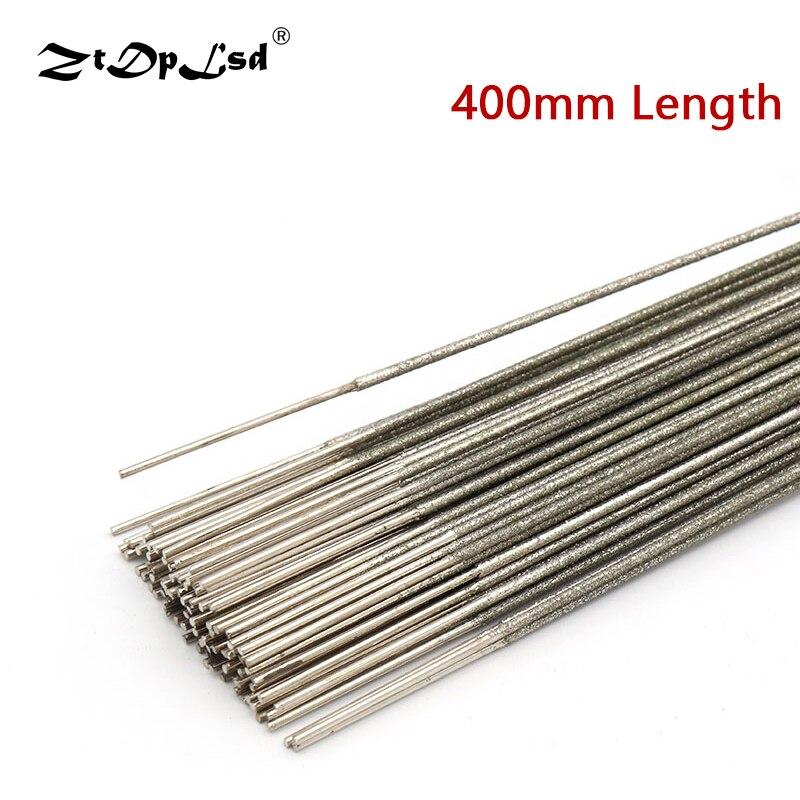 ZtDpLsd hoja de sierra de alambre de Metal de diamante, cortador de cuchillas de 400mm, 1,0mm, 1,2mm, 1,5mm, para herramienta de zafiro ámbar de Jade, 1 Uds.|Hojas de sierra| - AliExpress
