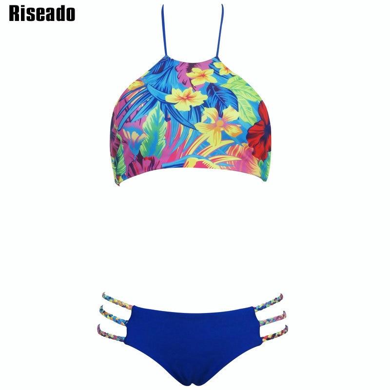Riseado Sexy Bikini 2017 New Swimwear Women Cut Out Halter Swimsuit Low Waist Swim Wear Summer biquini Bathing Suits моторное масло castrol edge 5w30 ll 4 л синтетическое