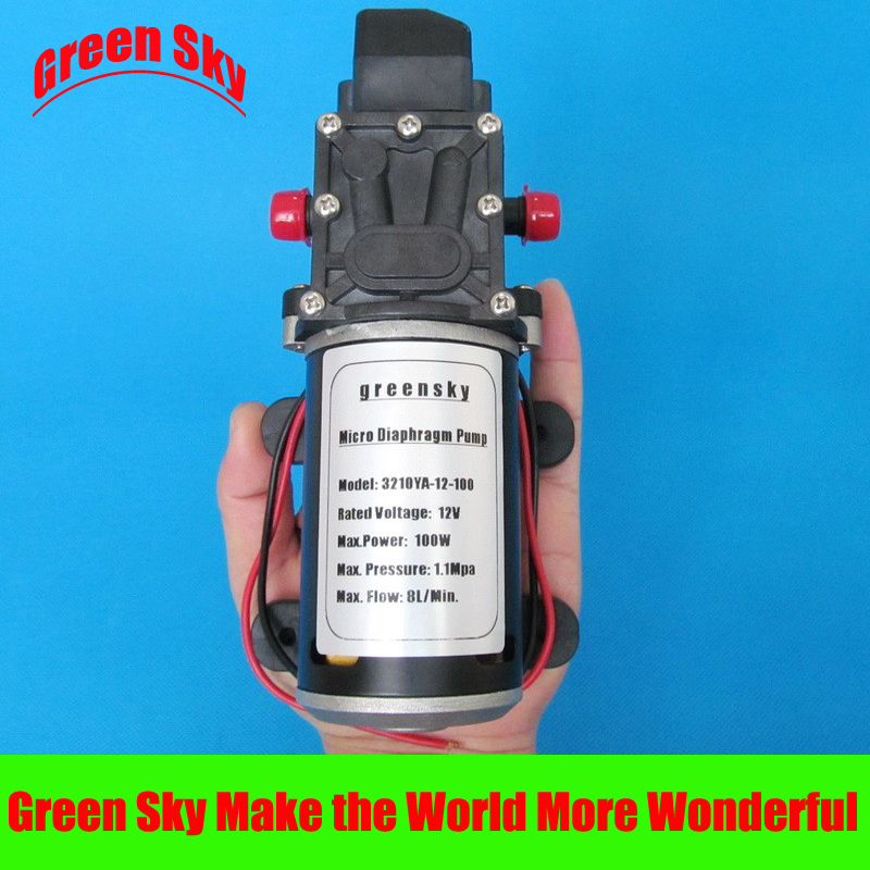 160PSI 8L/Min 100W DC 12V car washing,medical,chemical equipment,lawn and garden irrigation use water pump diaphragm цена