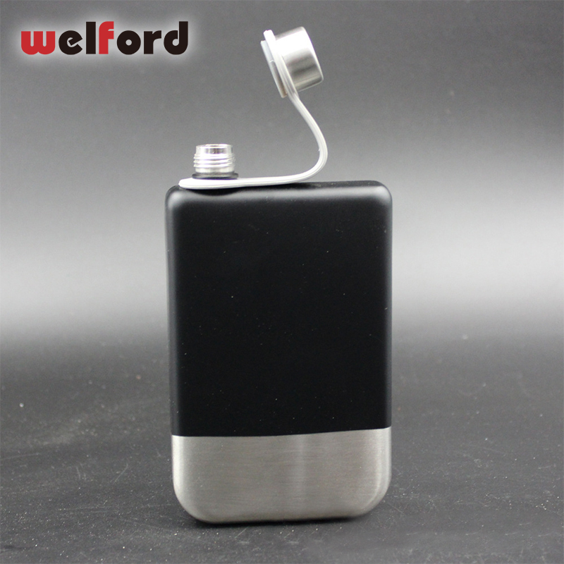 Us 8 94 25 Off Stainless Steel Hip Flask Portable 304 Food Grade Spray Paint Silicone Handle Outdoor Flagon In Hip Flasks From Home Garden On
