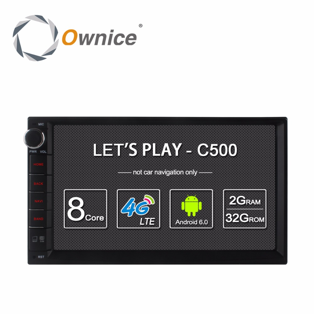 Ownice C500 Android 6.0 GPS Per Auto Universale Lettore Radio Stereo 2 Din 7