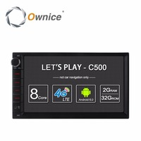 Ownice C500 Android 6.0 Car GPS Universal Stereo Radio 2 Din Player 7 4core 2GB RAM 16GB ROM Support DAB+ 4G LTE WIFI no dvd