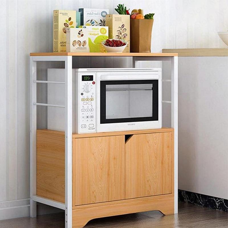 Кухонный стеллаж для хранения напольного типа многослойное крепление под микроволновую печь кухонная стойка шкаф