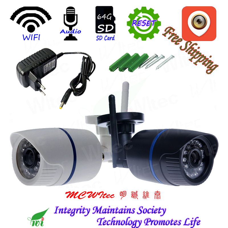 XMCSee Audio RTSP CIB 64g SD Carte WIFI 1080 p 960 p 720 p IR Extérieure ONVIF de Sécurité D'alarme nuit P2P IP Cam Réinitialiser Sans Fil Caméra