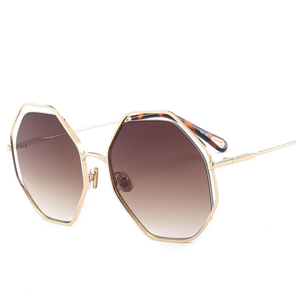Faramita Holiday Hexagon Summer Beach Sunscreen Sunglasses Women Eyewear Fashion Mirror Sun Glasses Round Outdoor Driver Plus