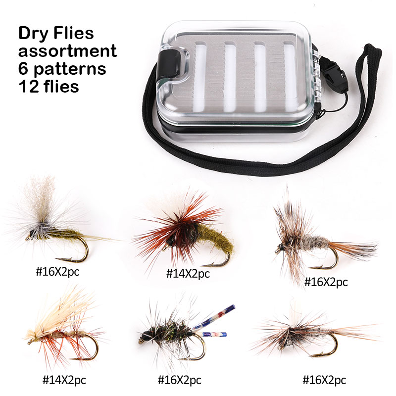 где купить  Maximumcatch 12-32 pcs Kenya Fly Flies with Fishing Box Hand-Selected Hackle 9 Assortments Fly Flies  по лучшей цене