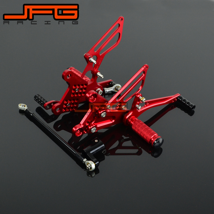 Motorcycle CNC Adjustable Foot Pegs Pedals Rest Rearset Footpegs For HONDA NSF100 NSF 100Motorcycle CNC Adjustable Foot Pegs Pedals Rest Rearset Footpegs For HONDA NSF100 NSF 100