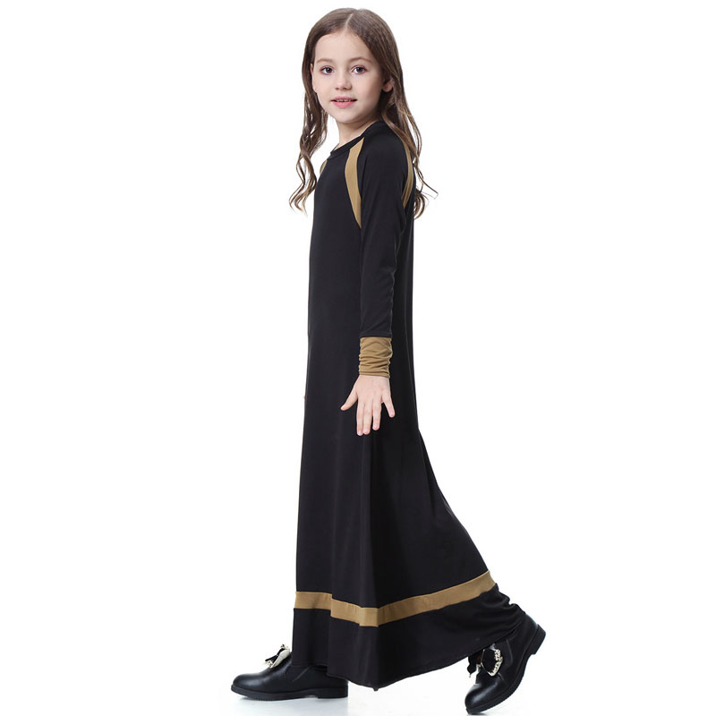 Muslim Long Sleeve Dress For Girl Child Kid Abaya Islamic Dubai Arabic Robe Gowns Traditional 7 8 9 10 11 12 13 14 Year VKDR1285 Kids cb5feb1b7314637725a2e7: Dark Pink|black|gray|Red