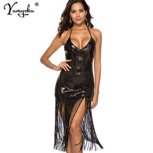 Sexy Off Shoulder Sequin Summer Sling Dress women Bandage maxi party dress elegant bodycon Night club woman long dresses vestido