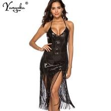 Sexy Off Shoulder Sequin Summer Sling Dress women Bandage maxi party dress elegant bodycon Night club woman long dresses vestido цена