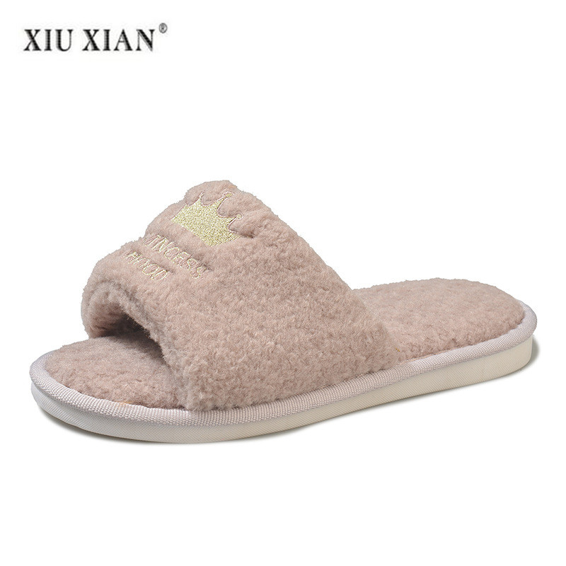 Luxury Shoes Women Designers House Slippers Furry Slippers Women Slipper Indoor Bed Slipper Indoor Winter Solid PU Fur Shoes PU