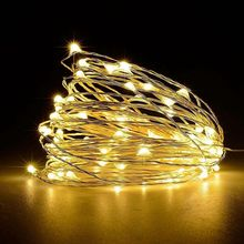 10 meters 32.8ft 100 lights fairy string silver cable USB powered 8 mode holiday lights for home layout wedding party decoration