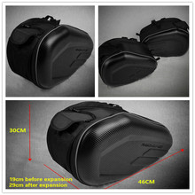 купить Motorcycle Waterproof Saddle Bags Racing Moto Helmet Bags Travel Luggage Saddlebags 1 Pair Rain Cover Free Large Space Side Bag дешево