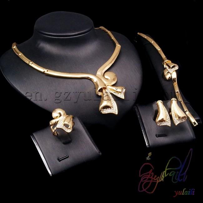 Free Shipping beautiful jewelry set dubai 18 carat gold jewelry sets