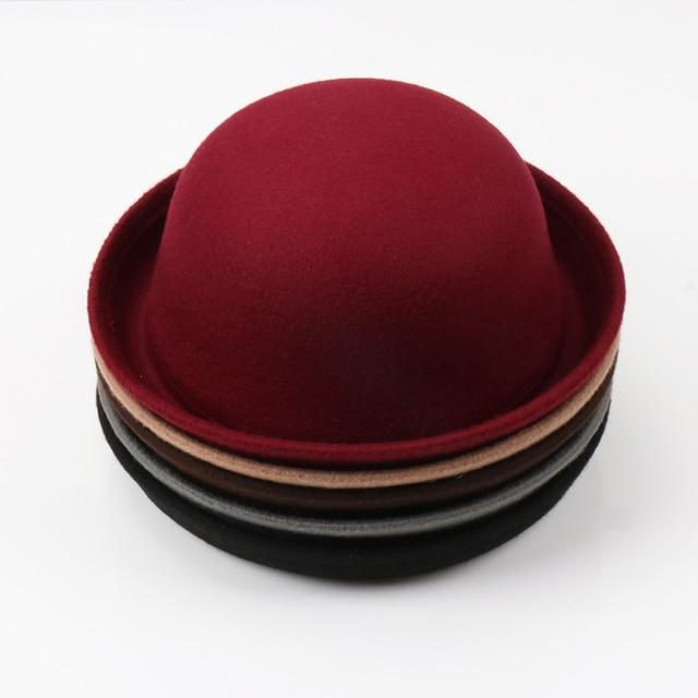 156298c32da 2018 Black Multiple Color Little girls Fedora Hat Dome Cap Children Dress  Hats Kids Caps Felt