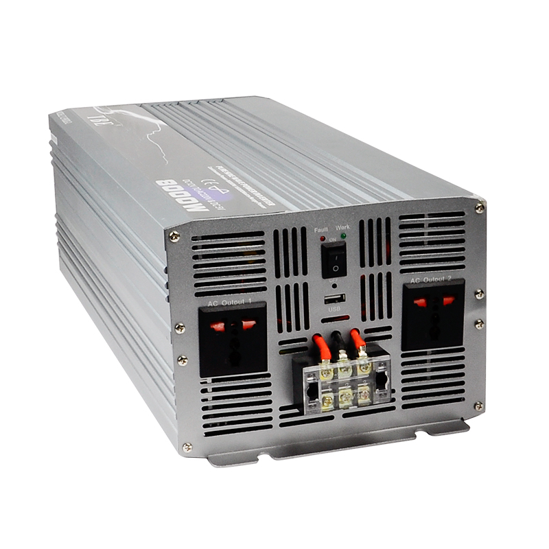 8000 watt Reine Sinus Welle Power Inverter DC 12 v/24 v/48 v Zu AC 220 v solar Power Auto Konverter Spitzenleistung 16000 watt für Camping Reise