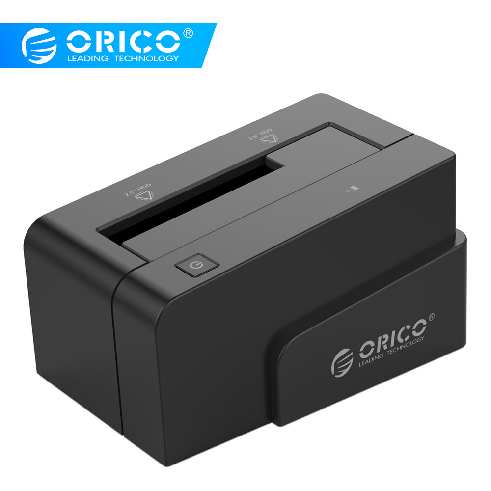 ORICO 6618SUS3 2.5 & 3.5 Inch SATA2.0 USB3.0 & ESATA External Hard Drive Dock With 12V Power Adapter -Black