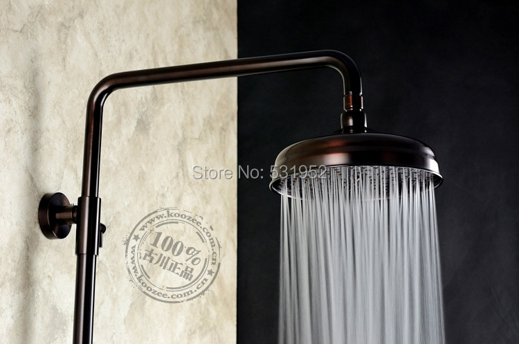 High Quality Oil Rubbed Bronze 8 Diameter Large Raindrop Brass Shower Head Classical Design Antique Shower Head Free Shipping allen roth brinkley handsome oil rubbed bronze metal toothbrush holder