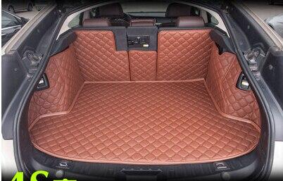 Haut tapis! Spécial tapis de coffre pour BMW Série 5 GT F07 2015-2010 imperméable chaussure durable tapis pour BMW F07 2013, livraison gratuite