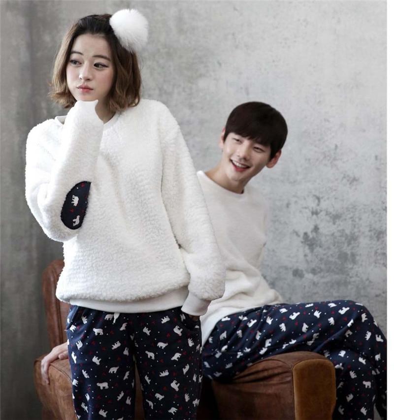Autumn Winter Matching Flannel pajamas Print Pajamas Sets Cute ...