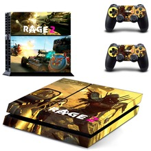 Rage 2 PS4 Vinyl Skin Sticker Cover for Playstation 4 System Console and Two Controllers
