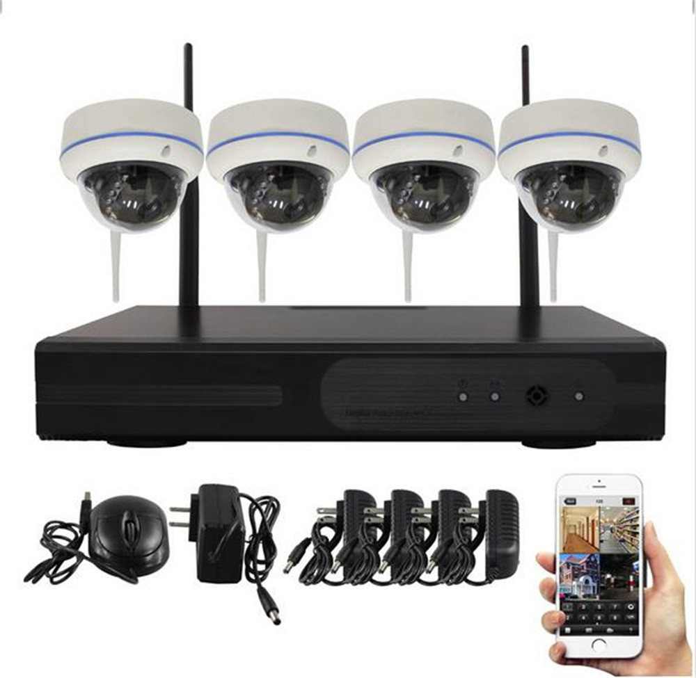 4CH WIFI IP Dome Camera 960P IP Camera NVR Kit