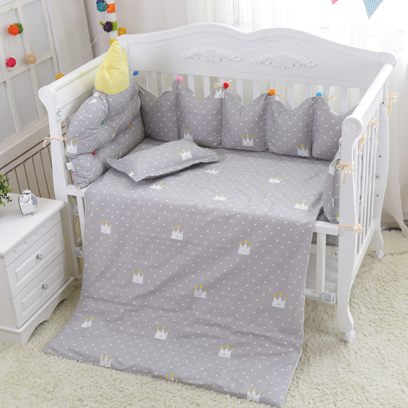 Soft Safety Girls Boys Baby Bedding Set 7pcs Cotton Baby Crib Bedding Set For Infant Newbron 4 Bumpers+Pillowcase+Quilt CoverSoft Safety Girls Boys Baby Bedding Set 7pcs Cotton Baby Crib Bedding Set For Infant Newbron 4 Bumpers+Pillowcase+Quilt Cover