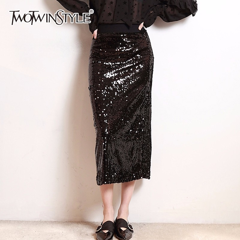 6218b63525205 Buy long sequin pencil skirt and get free shipping on AliExpress.com
