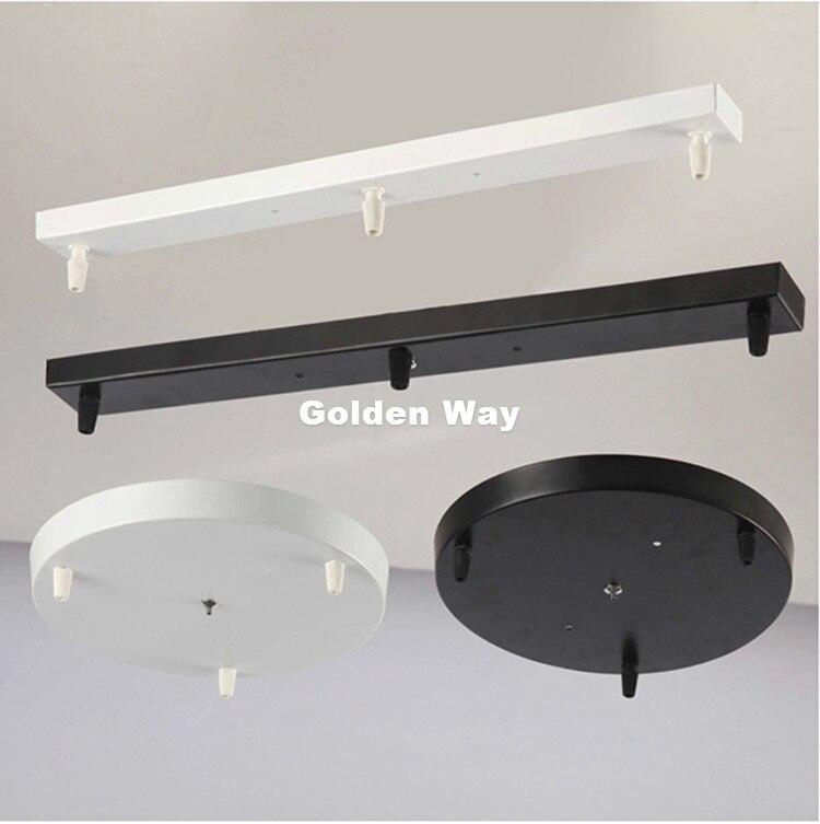 Бесплатная доставка Подвесная лампа база высокого качества аксессуары для освещения черная белая круглая квадратная потолочная база розовое основание для светильника