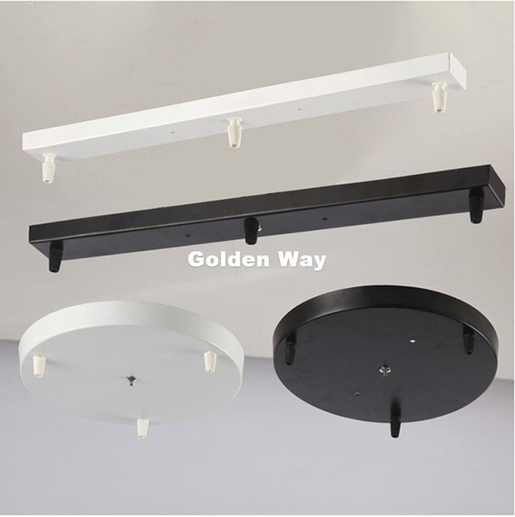 Free Shipping Hanging Lamp Base High grade Lighting Accessories Black White Round Rectangular Ceiling Base Rose Canopy Plate