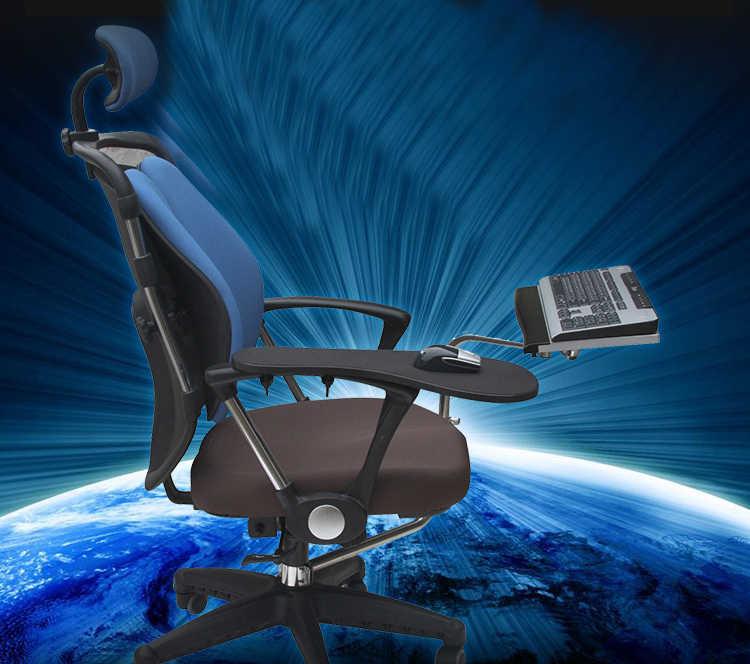 OK010 フルモーションチェアシャフトクランプキーボードサポート + 椅子アームクランプ肘手首サポートマウスパッドのためのアームレストオフィス & ゲーム