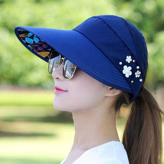 Гольф шляпа женские Летние путешествия складной Корейская версия солнца Для женщин Открытый Hat анти-ультрафиолетового хлопок для девочек в цветочек Бейсбол Hat