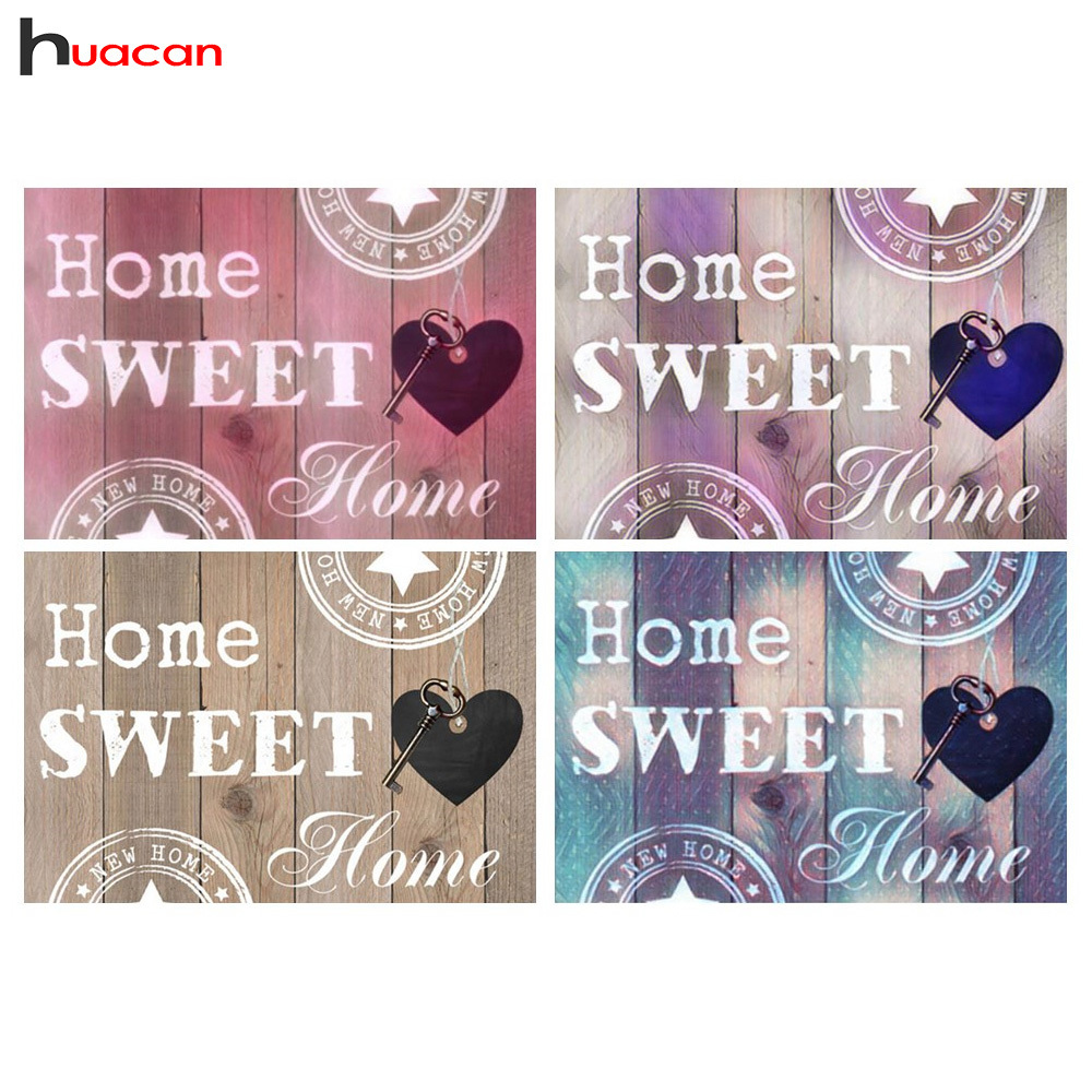 Huacan Diamond Painting Home Sweet Home Full Square Diamond Embroidery Scenic Pictures Rhinestones Diamonds Mosaic Home DecorHuacan Diamond Painting Home Sweet Home Full Square Diamond Embroidery Scenic Pictures Rhinestones Diamonds Mosaic Home Decor