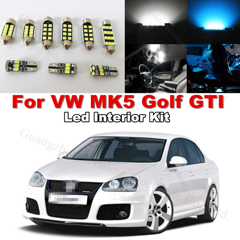 12x canbus mirror light bulb led interior lighting kit for 12x canbus mirror light bulb led interior lighting kit for volkswagen vw golf mkv mk5 5 golf gti 2006 2007 2008 2009 pure white in headlight bulbs from swarovskicordoba Gallery