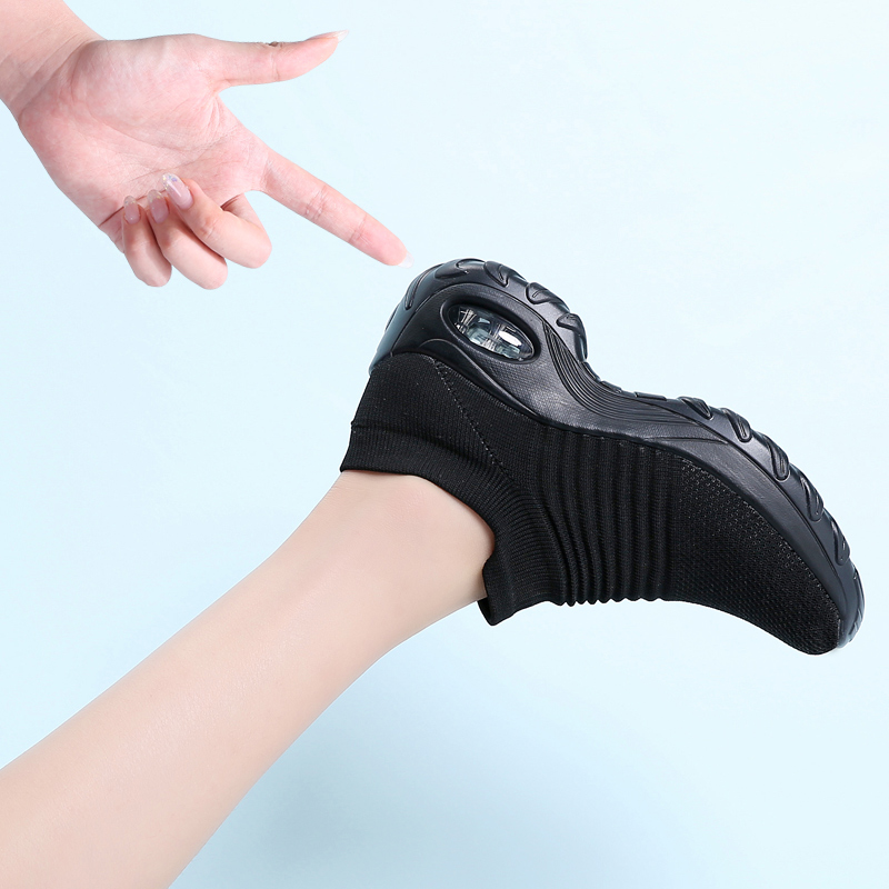 TKN Casual Walking Shoes Women Outdoor Slip-On Breathe Mesh Fashion Sneakers For Women Non-Slip Comfort Wedge Platform Loafers