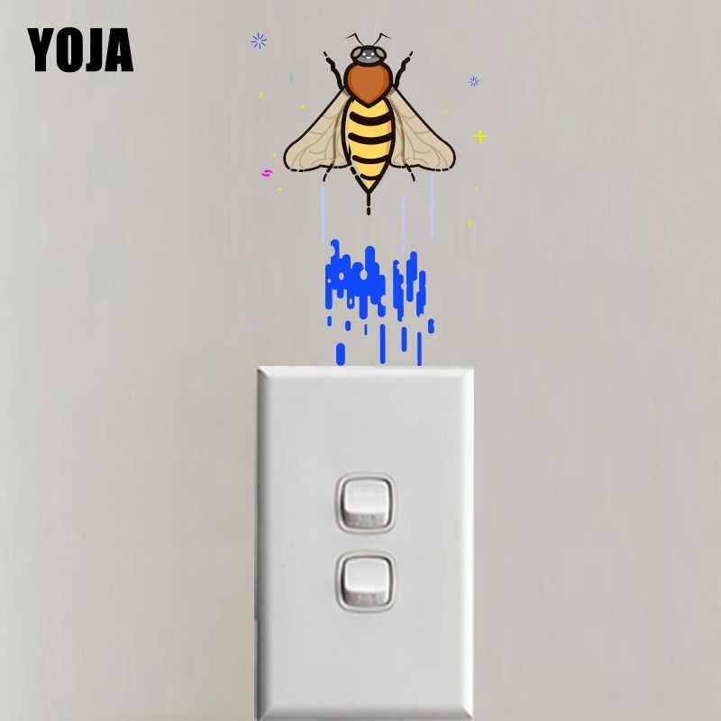 YOJA Uçan Arı Duvar Sticker Renkli Anahtarı PVC Aile Odası Yatak Odası Dekor 12SS0177