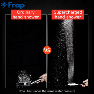 Image 2 - Frap מקלחת ראש מים חיסכון 300% לחץ Boost חזק 300 חורים ABS מצופה כרום כף יד חדר אמבטיה מקלחת ראש Y044 1