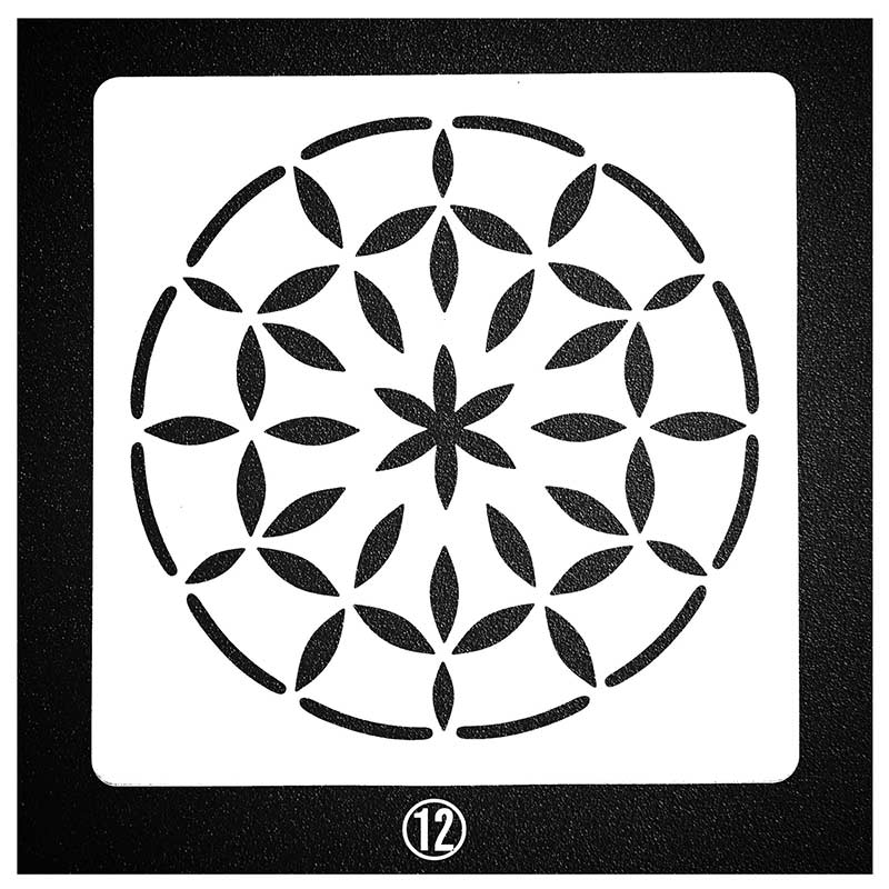 Mandala Leaves Circle Stencils For Painting Scrapbooking Stamp Cake Decorating Tool Embossing Paper Card Album DIY Decoration