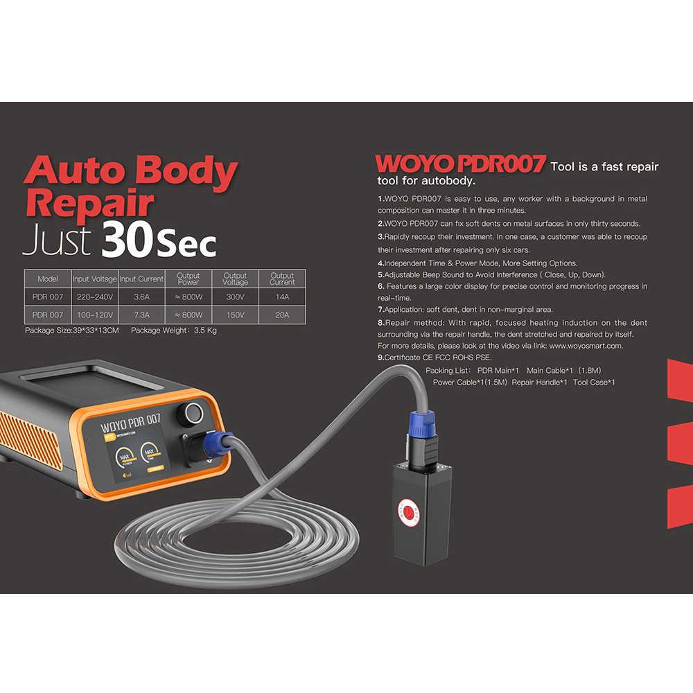 WOYO PDR007 автомобильный набор для ремонта вмятин, набор для удаления вмятин, инструменты для ремонта листового металла 110 В 220 В, горячий ящик, pdr